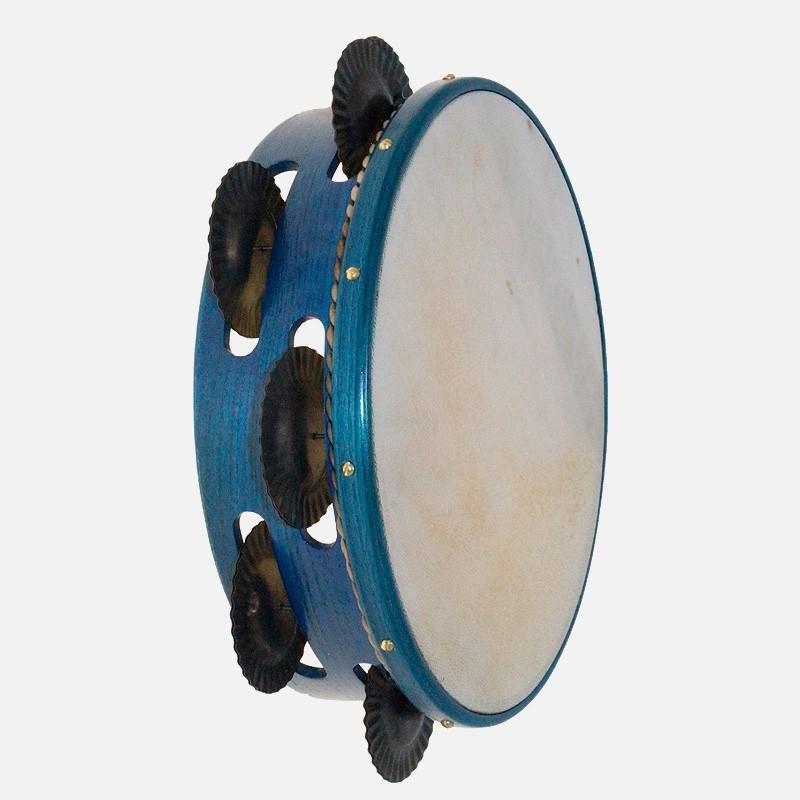 Pandeireta de Freixo Tinguida Azul 7 pares de ferreñas temperadas
